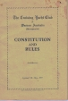 1st Constitution for TCYC Approved 7 May 1957